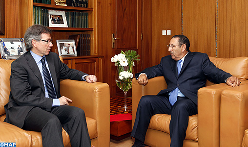 M. Amrani s'entretient avec le représentant spécial de l'UE pour le Sud de la Méditerranée