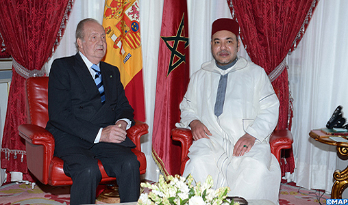 Entretiens entre SM le Roi et le Souverain espagnol