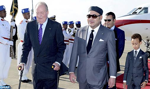 Arrivée au Maroc de SM le Roi Juan Carlos 1er d'Espagne
