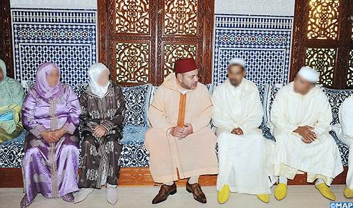 SM le Roi reçoit les parents et les membres des familles des enfants victimes du criminel Daniel Galvan Fina