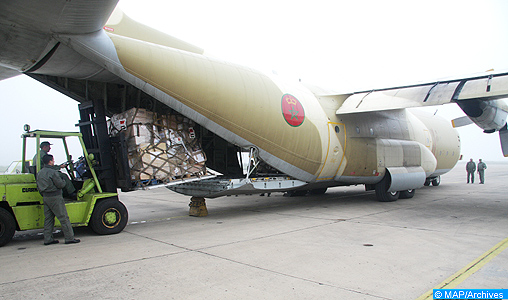 Arrivée à Khartoum de deux nouveaux avions marocains chargés d'aide humanitaire aux populations sinistrées