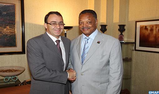 M. Ghellab informe le révérend Jackson de la spécificité du modèle des réformes engagées par le Maroc