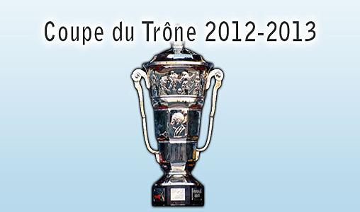 Coupe du Trône 2012-2013 de football: tirage au sort des quarts et demi-finales