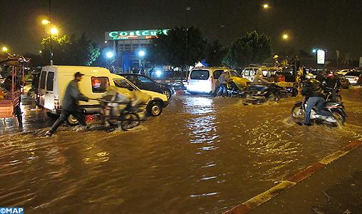Pluies diluviennes sur Marrakech : effondrement de sept maisons mais pas de victimes