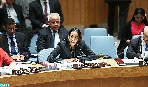 """PO : Le Maroc réitère à l'ONU son soutien aux """"efforts inlassables"""" de l'administration américaine (Mme Bouaida)"""