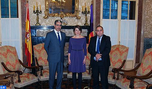 Le renforcement de la coopération bilatérale au centre d'une rencontre entre M. Rabbah et la présidente du Parlement régional des Baléares
