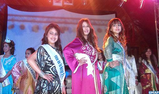 Manal Kadiri de la ville d'Azrou couronnée Miss neige Ifrane 2014