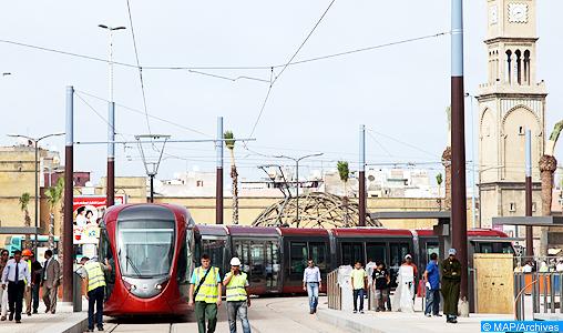 """Casablanca: retour à la normale du trafic du tramway """"à la date prévue"""" (société)"""
