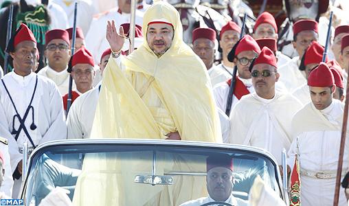 SM le Roi, Amir Al Mouminine, préside à Rabat la cérémonie d'allégeance