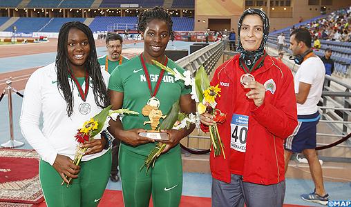 Championnats d'Afrique Marrakech 2014 (disque): l'or pour la Nigériane Okoro, la Marocaine Amina El Mouden médaillée de bronze