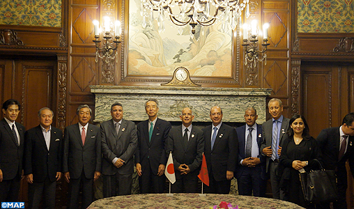 La délégation de la Chambre des Conseillers poursuit ses entretiens avec les responsables japonais à Tokyo