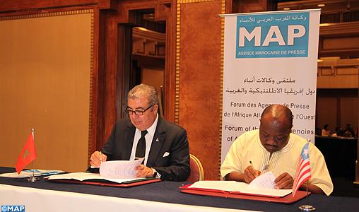 Signature à Casablanca de plusieurs accords de coopération entre la MAP et des agences de presse de l'Afrique atlantique et de l'ouest