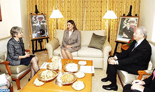 SAR la Princesse Lalla Hasnaa s'entretient à Nagoya avec la Directrice Générale de l'UNESCO