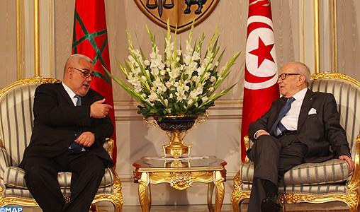 Tunisie: Le président Caïd Essebsi reçoit M. Benkirane