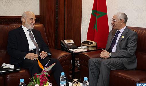 M talbi alami s entretient avec le ministre irakien des - Bureau de la coordination des affaires humanitaires ...