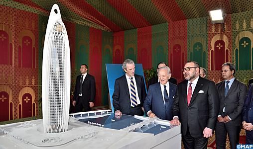 Salé : SM le Roi lance les travaux de construction d'une tour de 45 étages dans la vallée de Bouregreg