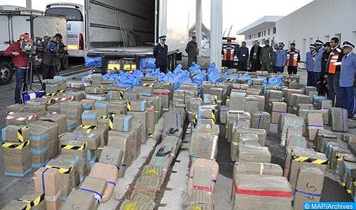 Saisie de plus de 5,7 tonnes de hachich du 7 au 16 juin (DGSN)