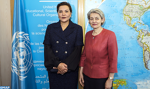 SAR la Princesse Lalla Hasnaa s'entretient à Paris avec la directrice générale de l'UNESCO