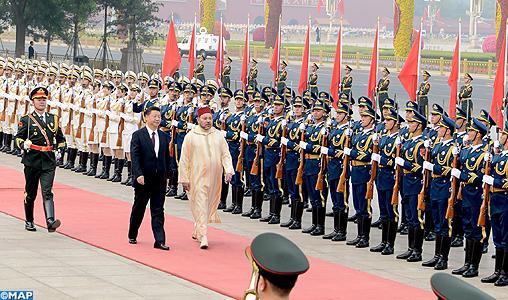 Le Président chinois réserve une cérémonie d'accueil officielle à SM le Roi Mohammed VI à Pékin