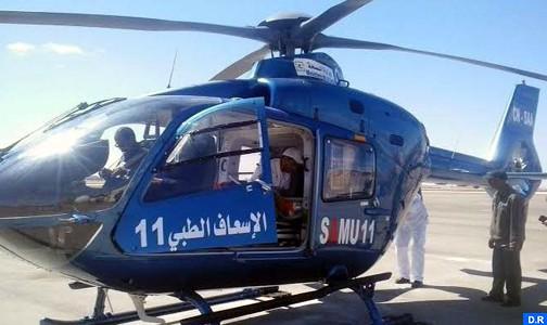 Evacuation héliportée d'un sexagénaire dans un état critique de Missour au CHU de Fès