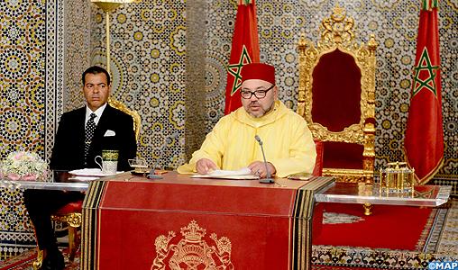 sm le roi mohammed vi adresse un discours la nation l 39 occasion de la f te du tr ne map. Black Bedroom Furniture Sets. Home Design Ideas