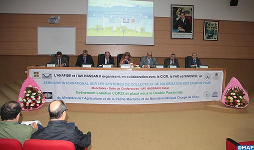 Le rôle de la bonne gestion des eaux pluviales dans la lutte contre les changements climatiques mis en avant lors d'un séminaire international à Rabat