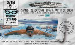 1è édition du Swim Mogador Island, une course pour la promotion de la natation en eau libre au Maroc