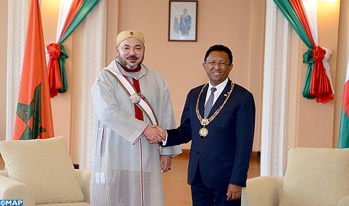 Entretiens en tête à tête à Antananarivo entre SM le Roi et le président de la République de Madagascar