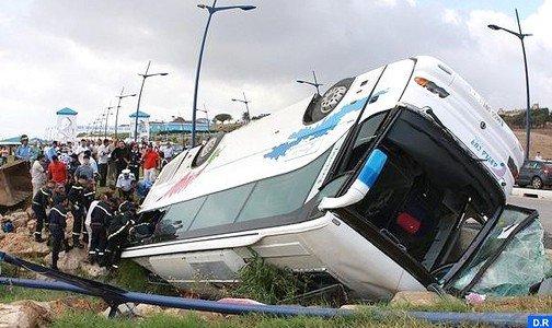 Tétouan: Trente-huit blessés dans un accident d'autocar transportant des supporters du Raja