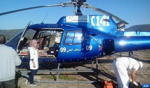 Evacuation héliportée d'un jeune dans un état critique de Laâyoune vers le CHU Mohammed VI de Marrakech (ministère)