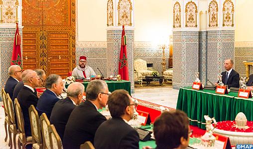 SM le Roi préside au Palais Royal à Marrakech un Conseil des ministres
