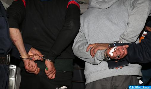 Mise en détention à la prison de Salé de sept personnes pour des affaires liées au terrorisme