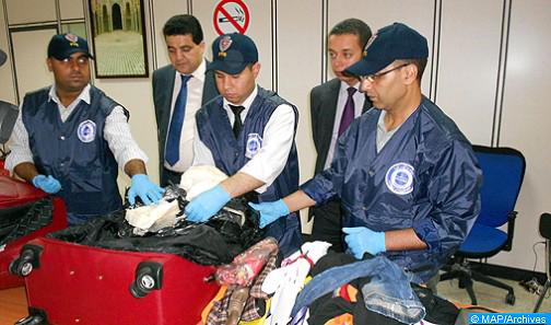 Arrestation à l'aéroport de Casablanca d'un ressortissant d'un pays arabe en possession de 1,365 kg de cocaïne (DGSN)