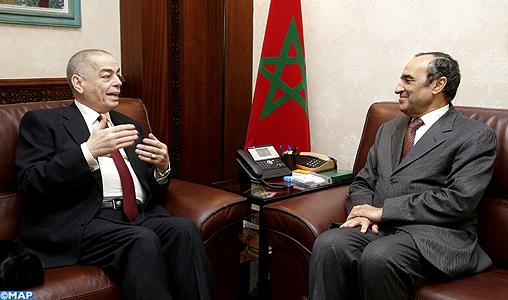 Le renforcement des relations parlementaires au centre d'entretiens entre M. El Malki et l'ambassadeur de Jordanie au Maroc