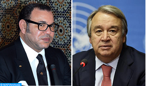 SM le Roi s'entretient avec le Secrétaire Général de l'ONU