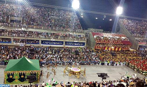 le choix du maroc comme l un des thèmes du carnaval de rio un hymne