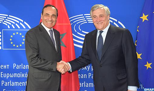 Le pr sident du parlement europ en re oit m habib el for Chambre de partenariat euro afrique de belgique