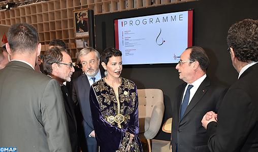 SAR la Princesse Lalla Meryem et le président français inaugurent le pavillon du Maroc au Salon du Livre de Paris où les lettres marocaines sont à l'honneur