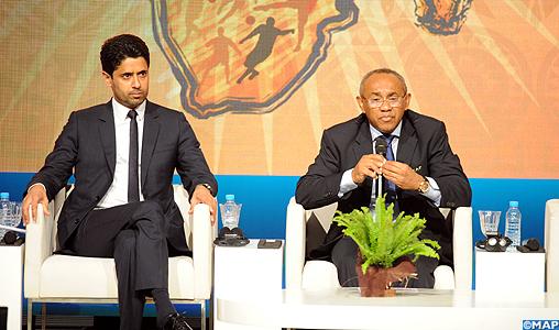 """Le président de la CAF appelle à un soutien """"franc et massif"""" pour la candidature du Maroc à l'organisation du Mondial 2026"""