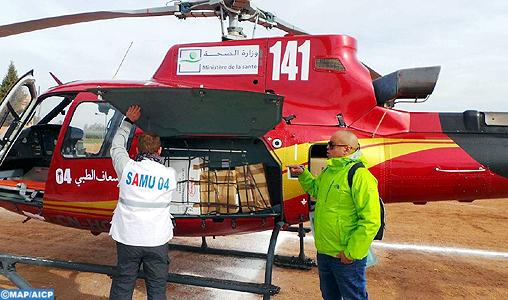 Ministère de la Santé : Transfert héliporté d'un jeune souffrant de détresse respiratoire aigüe, de Tanger vers le CHU Ibn Sina