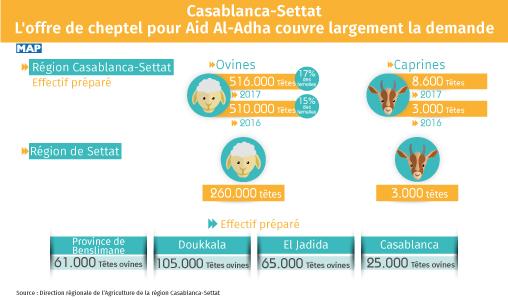 Casablanca-Settat: L'offre de cheptel pour Aid Al-Adha couvre largement la demande