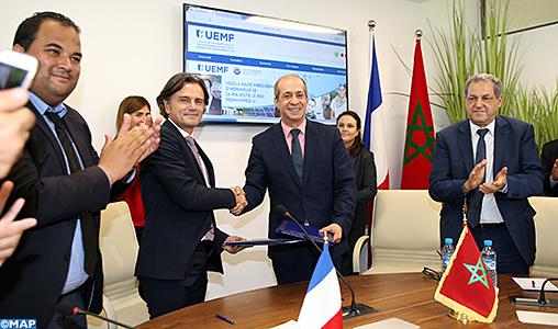 Fès : Signature d'une convention de coopération entre l'université Euromed et l'Institut Français IDATE