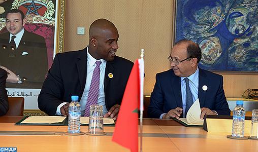 "Teddy Riner, fier de représenter ""Maroc Telecom"" en Afrique"