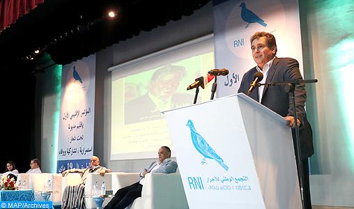 Le RNI souligne son adhésion totale à la vision royale pour la concrétisation d'un nouveau modèle de développement