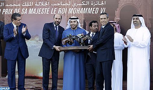 Le cheval Bandar remporte le Grand Prix de Sa Majesté le Roi Mohammed VI du Pur-sang Arabe