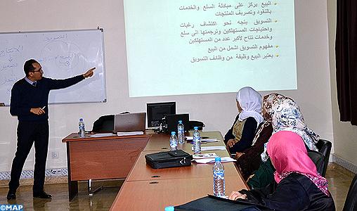 A Agadir, les porteurs de projets financés par l'INDH initiés aux techniques de gestion et de vente