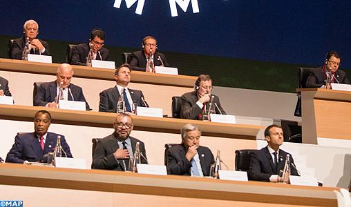 """SM le Roi prend part à Paris aux travaux du Sommet international sur le climat """"One Planet Summit"""""""