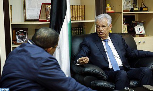 La position de SM le Roi sur le dossier d'Al-Qods reflète la grande préoccupation du Souverain pour la question palestinienne (ambassadeur de Palestine à Rabat)