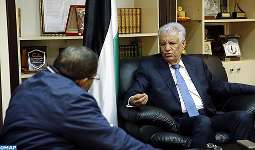 L'ambassadeur de Palestine à Rabat salue le soutien du peuple marocain à la cause palestinienne