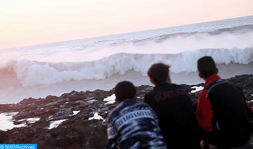 Vagues dangereuses de 3 à 6 mètres jeudi et vendredi entre Cap Malabata et Safi